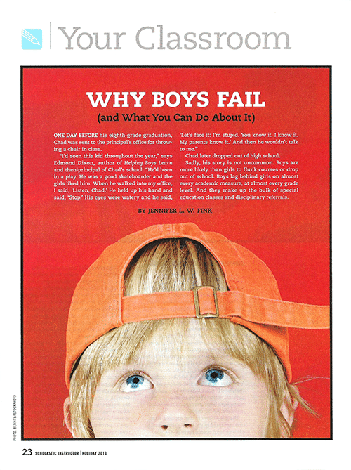 "A scan of the ""Why Boys Fail (and What You Can Do About It)"" article in Parents magazine."