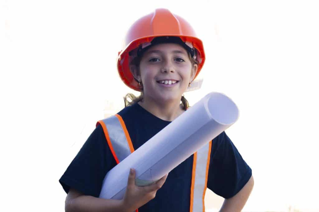 Young worker in hardhat