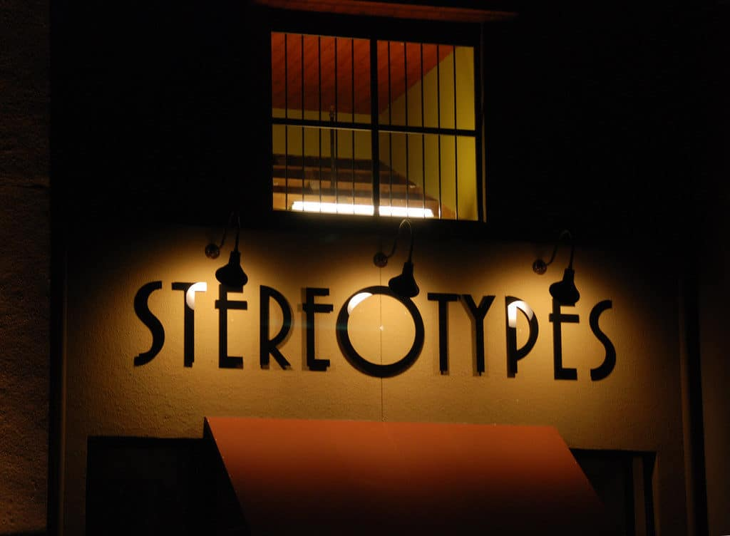 Lighted stereotype sign