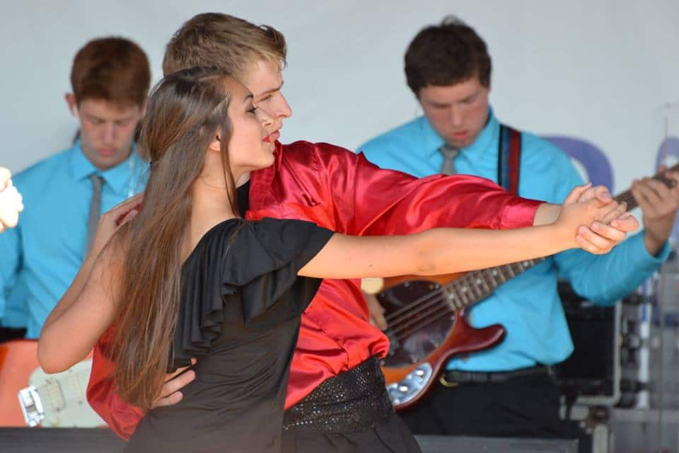 boy dancing tango with girl